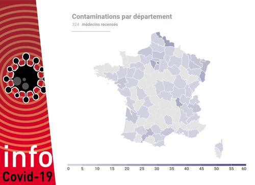 Covid 19 La Carte De France Des Medecins Contamines