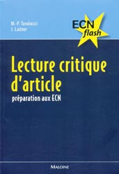 Lecture critique d'article - M-P.TAVOLACCI, J.LADNER - MALOINE - ECN flash