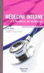 Médecine interne - J-M.HAHN - MALOINE - Checklists